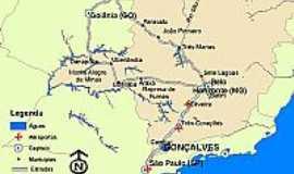 Jo�o Pinheiro - Mapa de localiza��o
