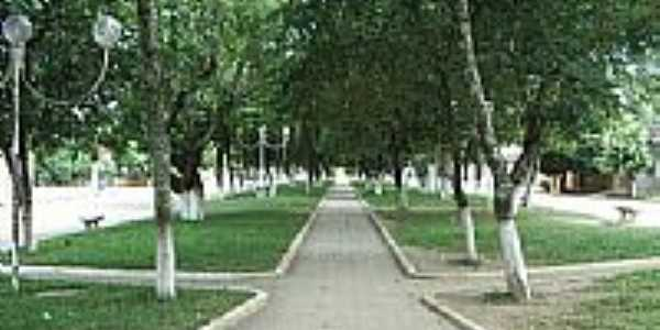 Ladainha-MG-Bela praça no centro da cidade-Foto:Scarparo