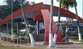 Lagoa da Prata - Lagoa da Prata-MG-Palco para comemoração de 7 de Setembro na Praia-Foto:www.jornalcidademg.com.br