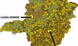 Lagoa Grande - Mapa de Localização - Lagoa Grande-MG