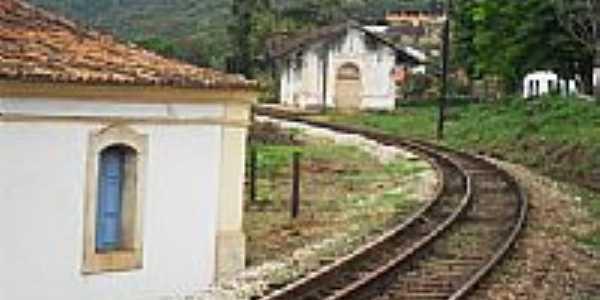 Antiga Estação Ferroviária atrás da Igreja em Lobo Leite-Foto:souexcel