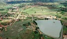 Mamonas - Vista aérea da Lagoa do Aconchego e a cidade de Mamonas-MG-Foto:caujorge