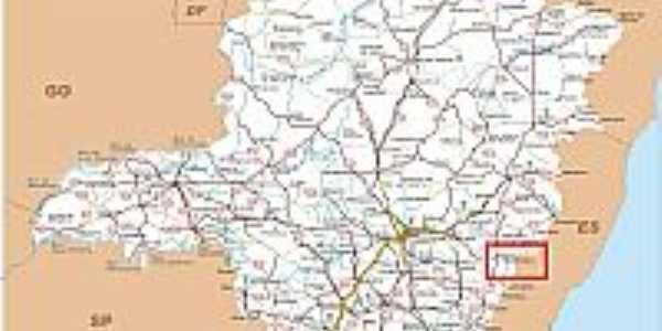 Mapa de Localização - Manhuaçu-MG