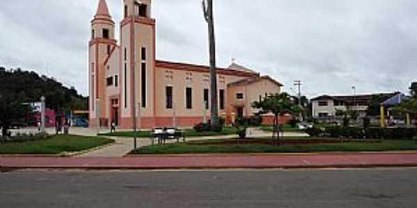 Marilac-MG-Praça e Matriz de Santa Luísa-Foto:gilmarjosesilva