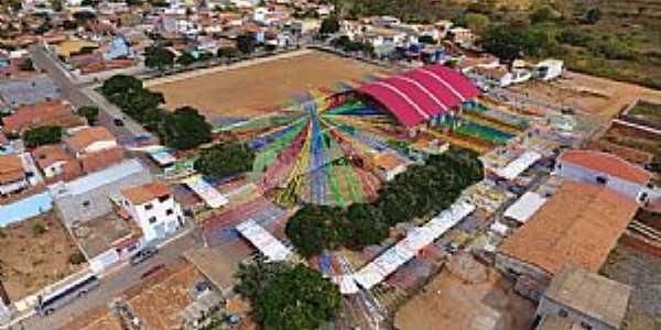 Alegre-BA-Vista aérea do cenário da Festa de São João-Foto:Facebook