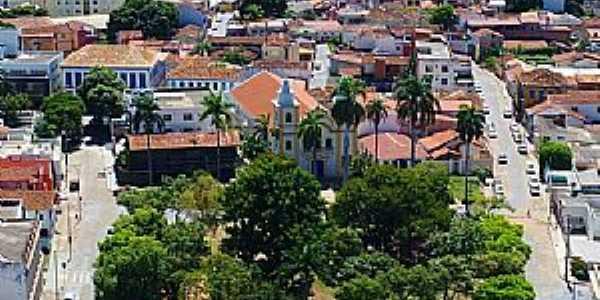 MONTES CLAROS - MG  Norte de Minas  Praça da Matriz  Fotografia de Drone Moc