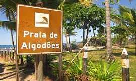 Algodões - Algodões-BA-Placa indicativa na praça-Foto:paixaoporviajar.com.br