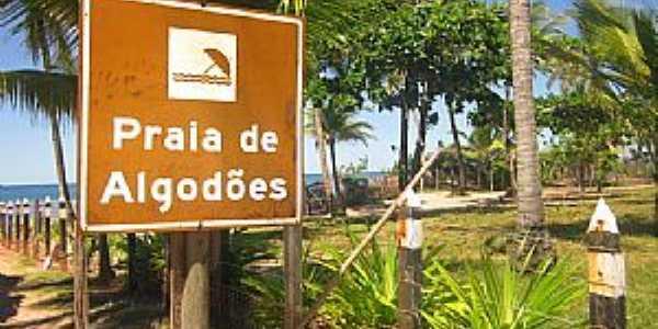 Algodões-BA-Placa indicativa na praça-Foto:paixaoporviajar.com.br