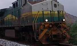 Naque - Naque-MG-Locomotiva na Estrada Ferroviária Vitória Minas-Foto:Facebook