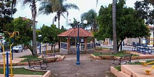 Nazareno-MG-Coreto na praça São Sebastião-Foto:Raymundo P Netto