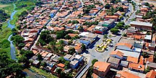 Nova Porteirinha-MG-Vista aérea da cidade-Foto:PM-Facebook