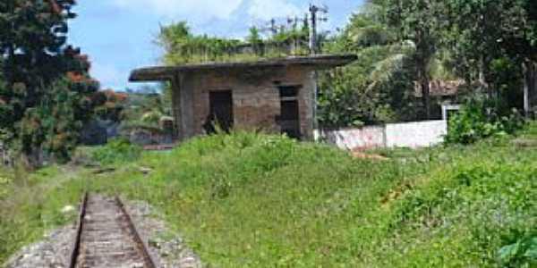Amado Bahia-BA-Ruínas da antiga Estação Ferroviária-Foto:Blog do Chiquitinha Maravilha