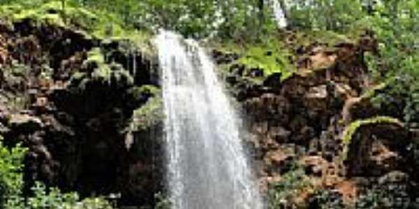 Linda cachoeira do ribeirão em Olímpio Campos-Foto:joseborges -