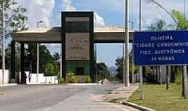 Oliveira - Pórtico de entrada da cidade-Foto:montanha
