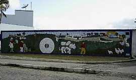 Amélia Rodrigues - Amélia Rodrigues-BA-Mural no centro-Foto:Otavio Cardoso