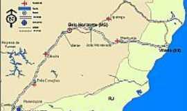 Parais�polis - Mapa de localiza��o