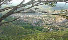 Pedra Azul - Pedra Azul-MG-Cidade vista do alto da Pedra da Conceição-Foto:paulomarcio