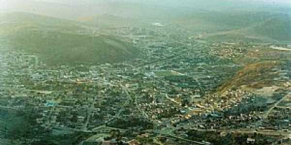 Pedra Azul-MG-Vista aérea da cidade em 1993-Foto:PVENTURAASES1