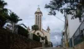 Pedralva - Vista da Igreja Matriz e Clube, Por Juarez Silva Júnior