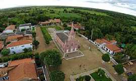 Angical - Angical-BA-Vista aérea da Igreja Matriz-Foto:Paulo Francisco