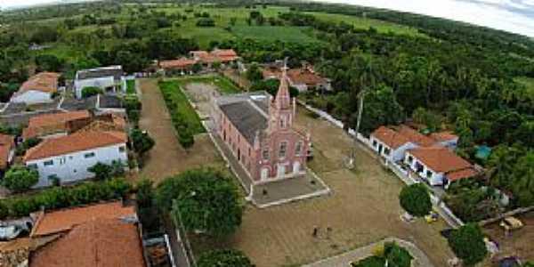Angical-BA-Vista aérea da Igreja Matriz-Foto:Paulo Francisco