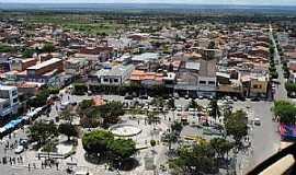 Araci - Araci-BA-Vista da Pra�a N.Sra.da Concei��o e a cidade-Foto:DaniloVictor