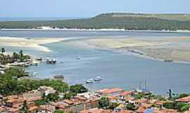 Barra de S�o Miguel - Mar e Lagoa de Roteiro-Foto:Fernando Carvalho