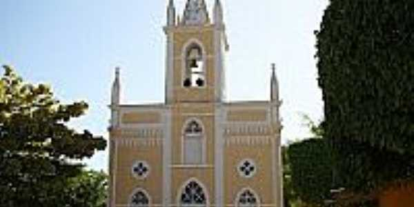 Matriz de São Miguel Arcanjo em Barra de São Miguel-Foto:Vicente A. Queiroz
