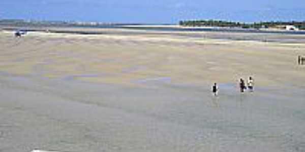 Praia das Conchas com Maré Baixa, ao fundo Praia do Gunga-Foto:Fernando Carvalho