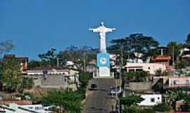 Rio Novo - Vista do Cristo e o Relógio em Rio Novo-MG-Foto:Jorge A. Ferreira Jr…