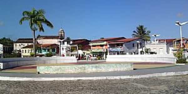 Aratu�pe-BA-Pra�a no centro-Foto:Andre L. S. Lacerda