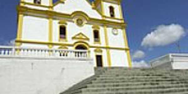 Escadaria da Igreja Matriz em Santa Luzia-Foto:renato weil