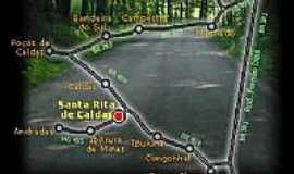 Santa Rita de Caldas - Mapa de Localização - Santa Rita de Caldas-MG