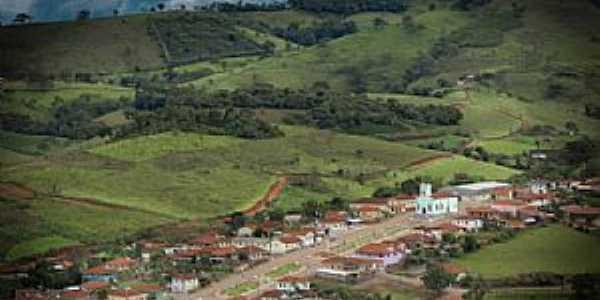 Santana de Caldas-MG-Vista aérea do distrito-Foto:Joelmir Barbosa