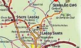 Santana do Riacho - Mapa
