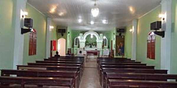 Santo Antônio do Mucuri-MG-Interior da Igreja de Santo Antônio-Foto:Júnior Gonçalves
