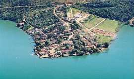Santo Hil�rio - Santo Hil�rio-MG-Vista da Represa de Furnas e a cidade-Foto:www.turismonarepresadefurnas.com.br