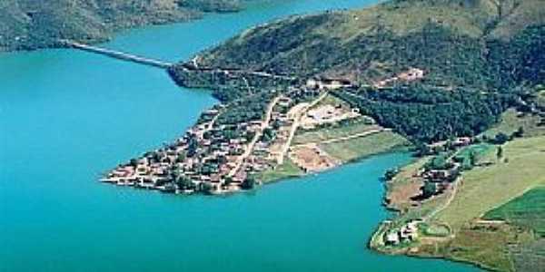 Santo Hilário-MG-Vista da Represa de Furnas a ponte e a cidade-Foto:www.pimenta.mg.