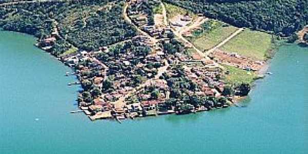 Santo Hilário-MG-Vista da Represa de Furnas e a cidade-Foto:www.turismonarepresadefurnas.com.br