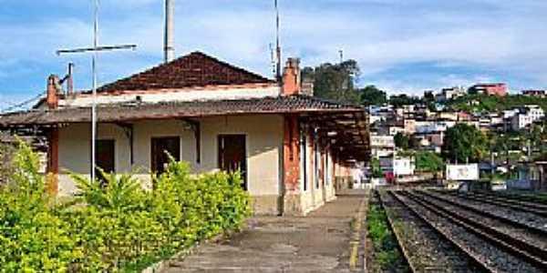 Santos Dumont-MG-Estação Ferroviária-Foto:Jorge A. Ferreira Jr