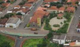 São Gonçalo do Abaeté - vista aérea da cidade, Por edvaldo