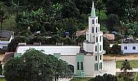 São João do Jacutinga - São João do Jacutinga-MG-Igreja de São João Batista e parcial da cidade-Foto:Joao Batista Dutra