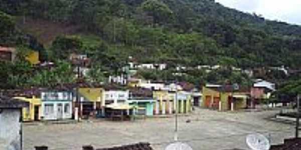 Centro da cidade e ao fundo a serra de Banco Central-BA-Foto:Felipe4013