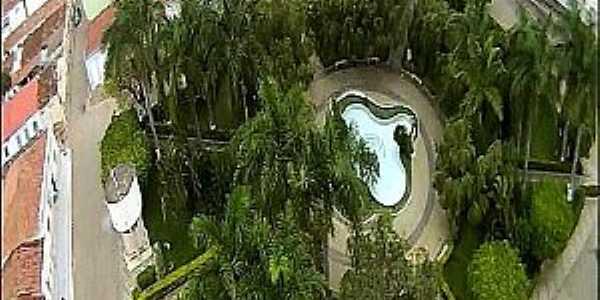 São João do Paraiso-MG-Vista aérea da praça central-Foto:guiaparaisoonline.