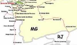 São José do Barreiro - Mapa de localização