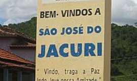 São José do Jacuri - São José do Jacurí-MG-Placa de boas vindas na entrada da cidade-Foto:vicgm09