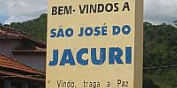 São José do Jacurí-MG-Placa de boas vindas na entrada da cidade-Foto:vicgm09