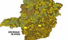 São Roque de Minas - Mapa