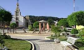 Banzaê - Banzaê-BA-Praça e Matriz N.Sra.da Conceição-Foto:Gláucio Almeida