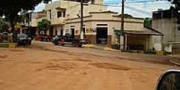 São Sebastião do Bugre-MG-Praça e Rua centrais-Foto:travelingluck.com